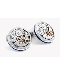 Tateossian - Multicolor Signature Vintage Skeleton Round Cufflinks In Silver for Men - Lyst