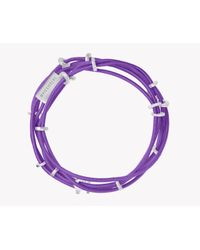 Tateossian | Purple Capri Silver Friendship Bracelet | Lyst