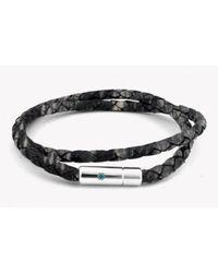 Tateossian - Gray Pop Print Scoubidou Silver Bracelet In Grey for Men - Lyst