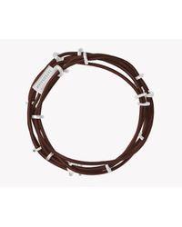 Tateossian - Brown Capri Silver Friendship Bracelet - Lyst