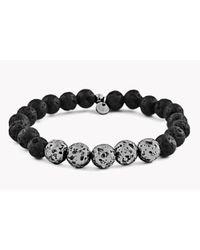 Tateossian - Black Asteroid & 5 Silver Beads Bracelet for Men - Lyst