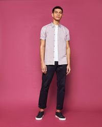 Ted Baker Pink Geo Print Cotton Shirt for men