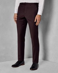 Ted Baker - Red Sterling Flannel Suit Trouser for Men - Lyst
