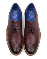 Ted Baker - Red Derby Brogue Shoe for Men - Lyst