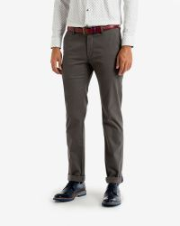 Ted Baker - Gray Slim Fit Cotton Chinos for Men - Lyst