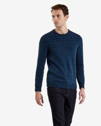 Ted Baker | Blue Cable Knit Jumper for Men | Lyst