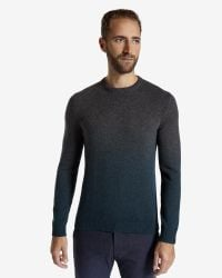 Ted Baker | Gray Sprayed Ombré Jumper for Men | Lyst