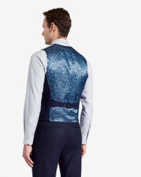 Ted Baker - Blue Wool And Cashmere-blend Waistcoat for Men - Lyst