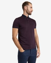 Ted Baker | Purple Jacquard Polo Shirt for Men | Lyst