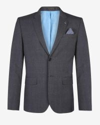 Ted Baker - Blue The Commuter Checked Cycling Suit Jacket for Men - Lyst