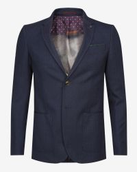 Ted Baker - Blue Herringbone Jacket for Men - Lyst