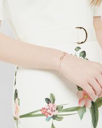 Ted Baker | Metallic Bow Detail Crystal Cuff | Lyst