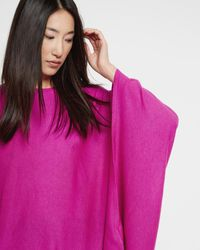 Ted Baker | Pink Asymmetric Draped Jumper | Lyst