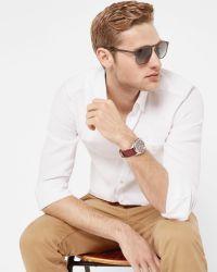 Ted Baker   White Stretch Linen Shirt for Men   Lyst