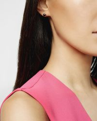 Ted Baker - Metallic Crystal Stud Earrings - Lyst
