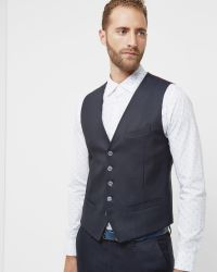 Ted Baker | Blue Mini Design Waistcoat for Men | Lyst
