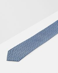 Ted Baker | Blue Micro Paisley Silk Tie for Men | Lyst