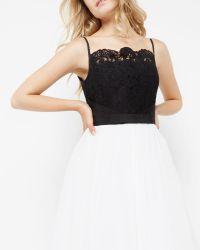 Ted Baker - Black Lace Bodice Tutu Dress - Lyst