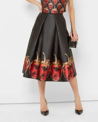 Ted Baker | Red Jewelled Strawberry Midi Skirt | Lyst