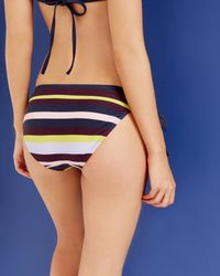 Ted Baker - Blue Modern Stripe Bikini Bottoms - Lyst