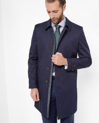 Ted Baker - Blue Single Button Mac for Men - Lyst
