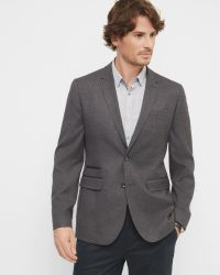 Ted Baker | Gray Veerity Diamond Jacquard Classic Fit Blazer for Men | Lyst