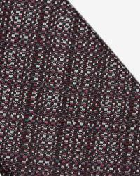 Ted Baker - Red Crosshatch Silk Tie for Men - Lyst