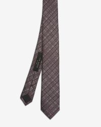 Ted Baker - Red Crosshatch Silk Tie for Men - Lyst