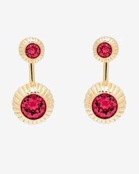 Ted Baker - Pink Crystal Etched Ball Earrings - Lyst