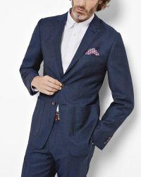 Ted Baker   Blue Commuter Herringbone Wool Jacket for Men   Lyst