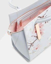 Ted Baker - Gray Oriental Blossom Tote - Lyst