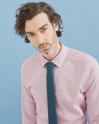 Ted Baker | Pink Mini Design Linen-blend Shirt for Men | Lyst