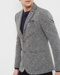 Ted Baker | Gray Textured Jersey Blazer for Men | Lyst