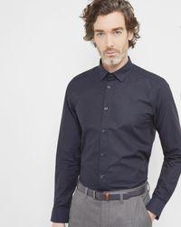 Ted Baker | Blue Oxford Cotton Shirt for Men | Lyst