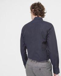 Ted Baker - Blue Oxford Cotton Shirt for Men - Lyst