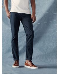 Ted Baker | Blue Slim Fit Cotton Chinos for Men | Lyst