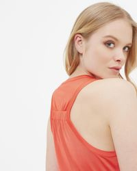 Ted Baker - Red Pleated Detail Cami Top - Lyst