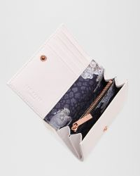 Ted Baker - White Curved Bow Leather Purse - Lyst