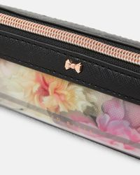 Ted Baker - Pink Painted Posie Pencil Case - Lyst