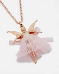 Ted Baker - Pink Swarovski Crystal Mini Fairy Necklace - Lyst