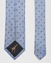 Ted Baker - Blue Spotted Silk Tie for Men - Lyst