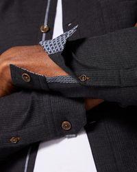 Ted Baker - Multicolor Cotton Shacket for Men - Lyst