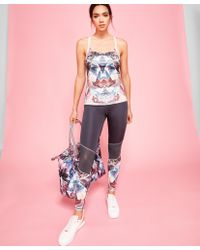Ted Baker - Multicolor Mirrored Minerals Cross Back Vest Top - Lyst