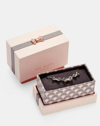 Ted Baker - Metallic Triple Bow Sterling Silver Pendant Necklace - Lyst