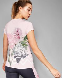 Ted Baker - Gray Palace Gardens Fitted T-shirt - Lyst