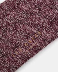 Ted Baker - Textured Organic Cotton-blend Socks for Men - Lyst