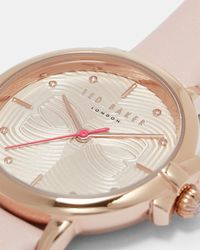 Ted Baker - Pink Bow Dial Watch - Lyst
