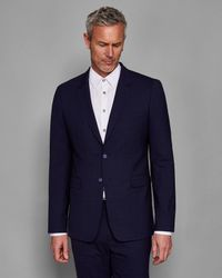Ted Baker - Blue Debonair Checked Wool Suit Jacket for Men - Lyst