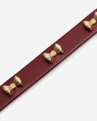 Ted Baker - Brown Micro Bow Leather Bracelet - Lyst