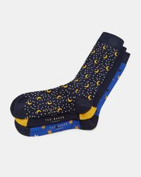 Ted Baker - Blue Cotton Sock Gift Set for Men - Lyst
